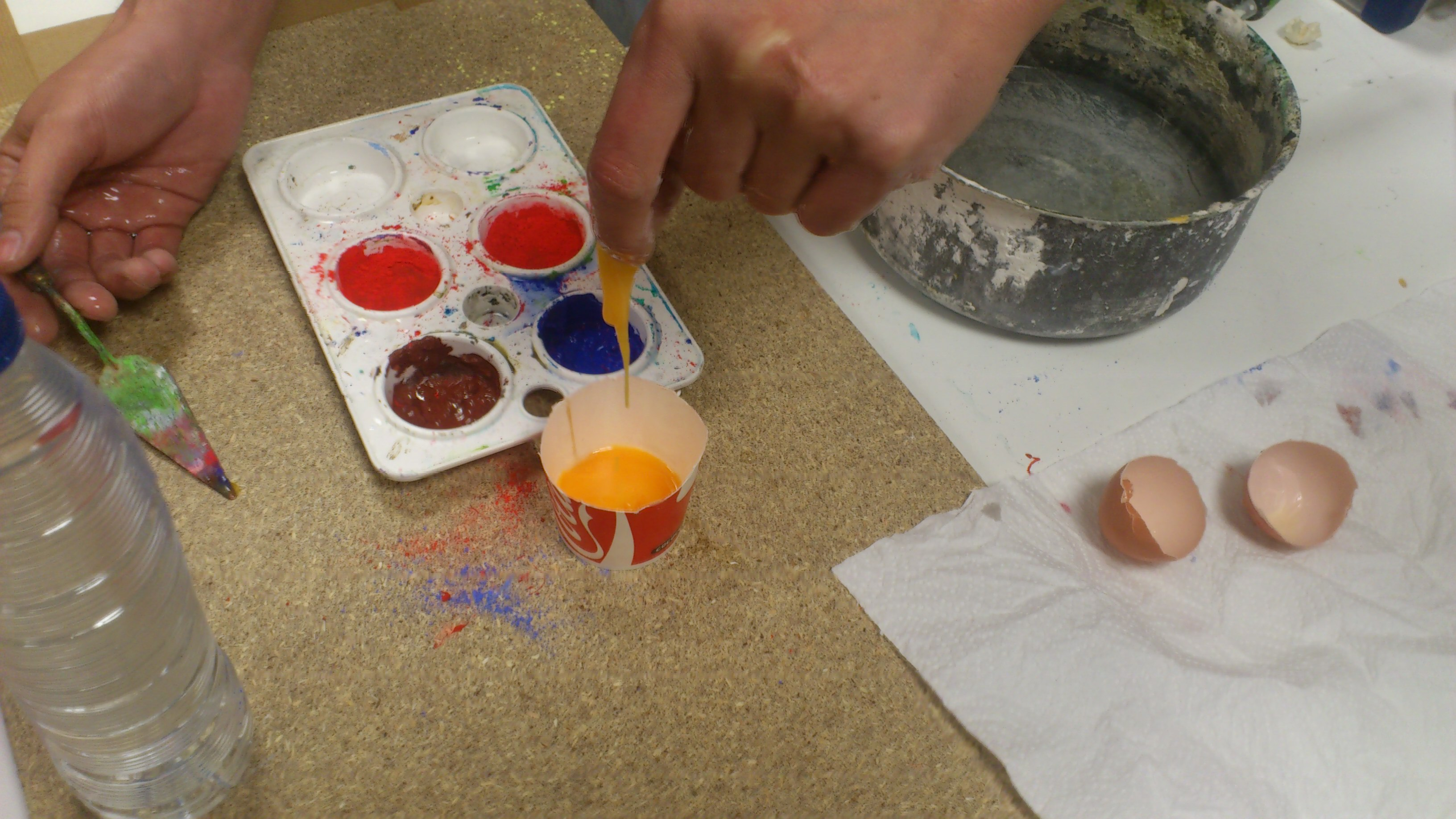 Pintura Al Temple Como Preparar Un Temple De Huevo Viviendo El Arte