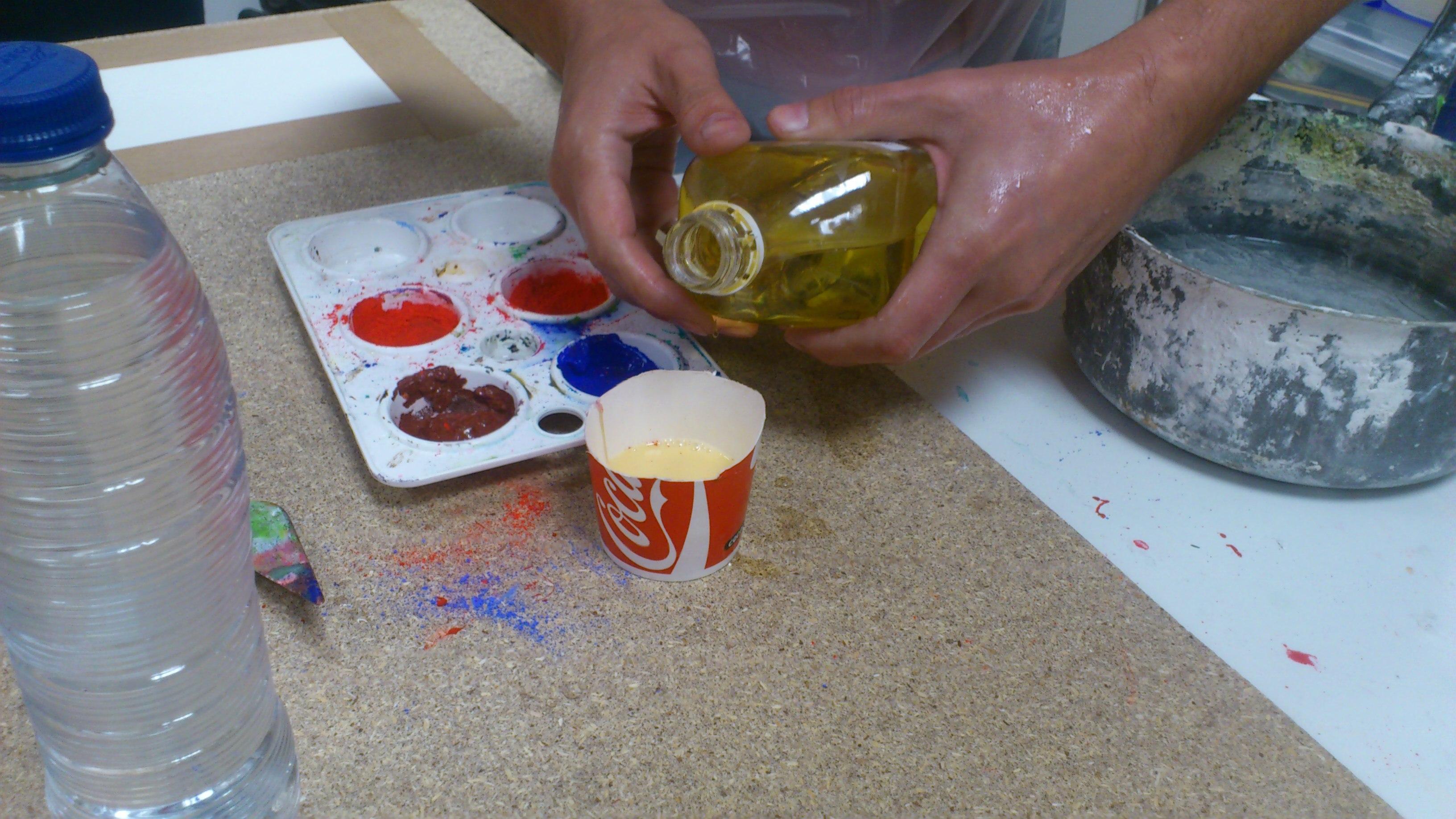 Pintura al temple como preparar un temple de huevo for Materiales para pintar un mural
