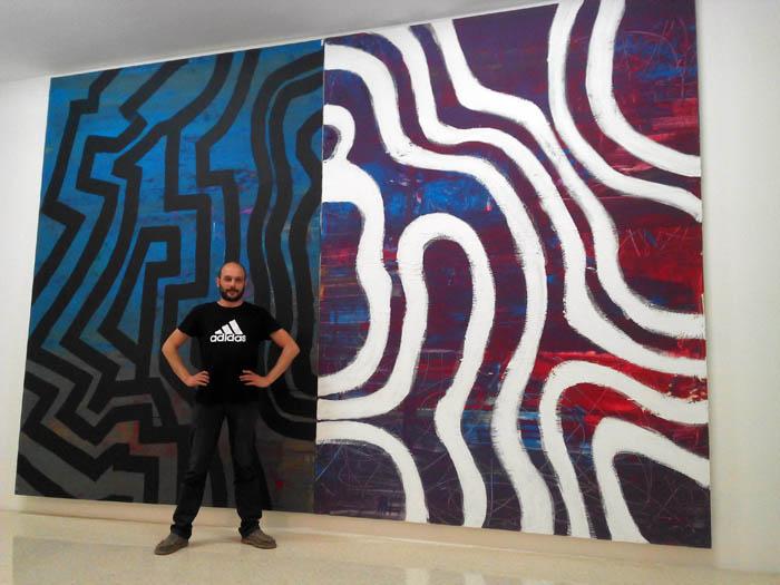 """""""Mapa de la mente"""" acrílico sobre tela, 3,55 x 5,26cm, 2014"""