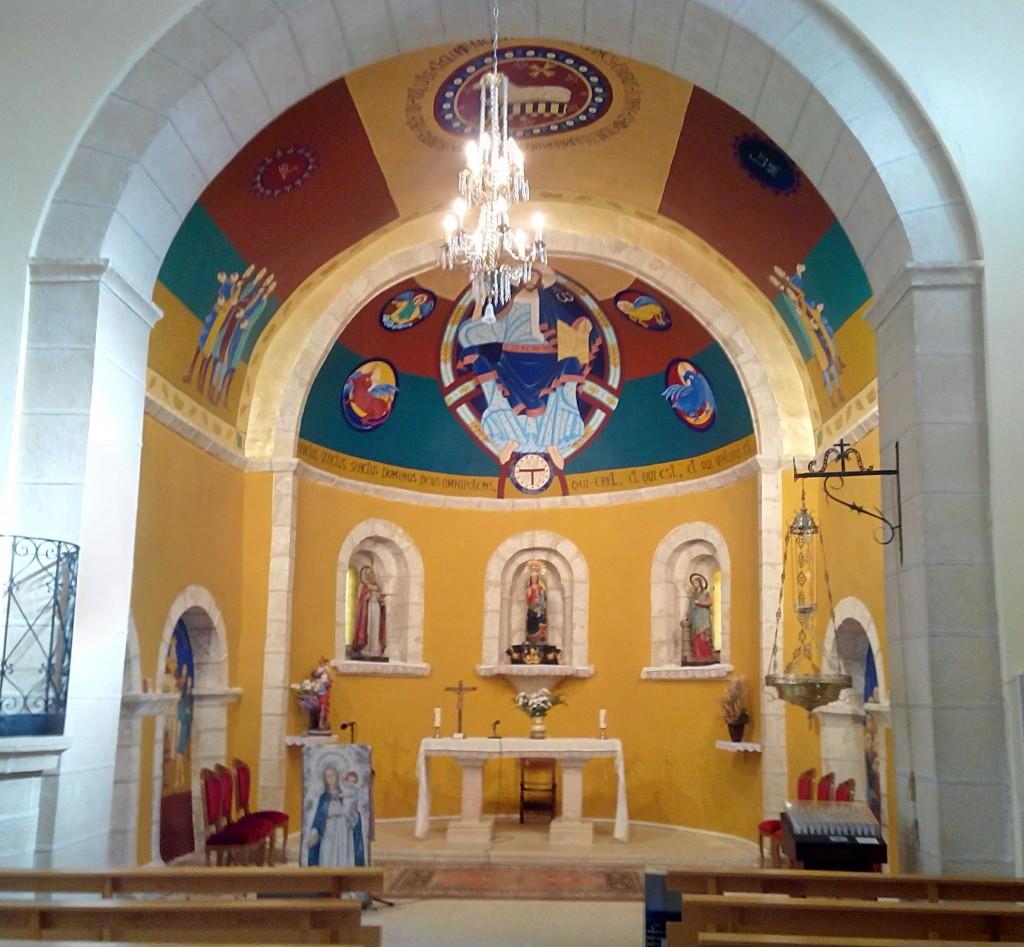 pinturas murales ermita de Nuestra Señora del Pinar de Cantalejo, Ábside
