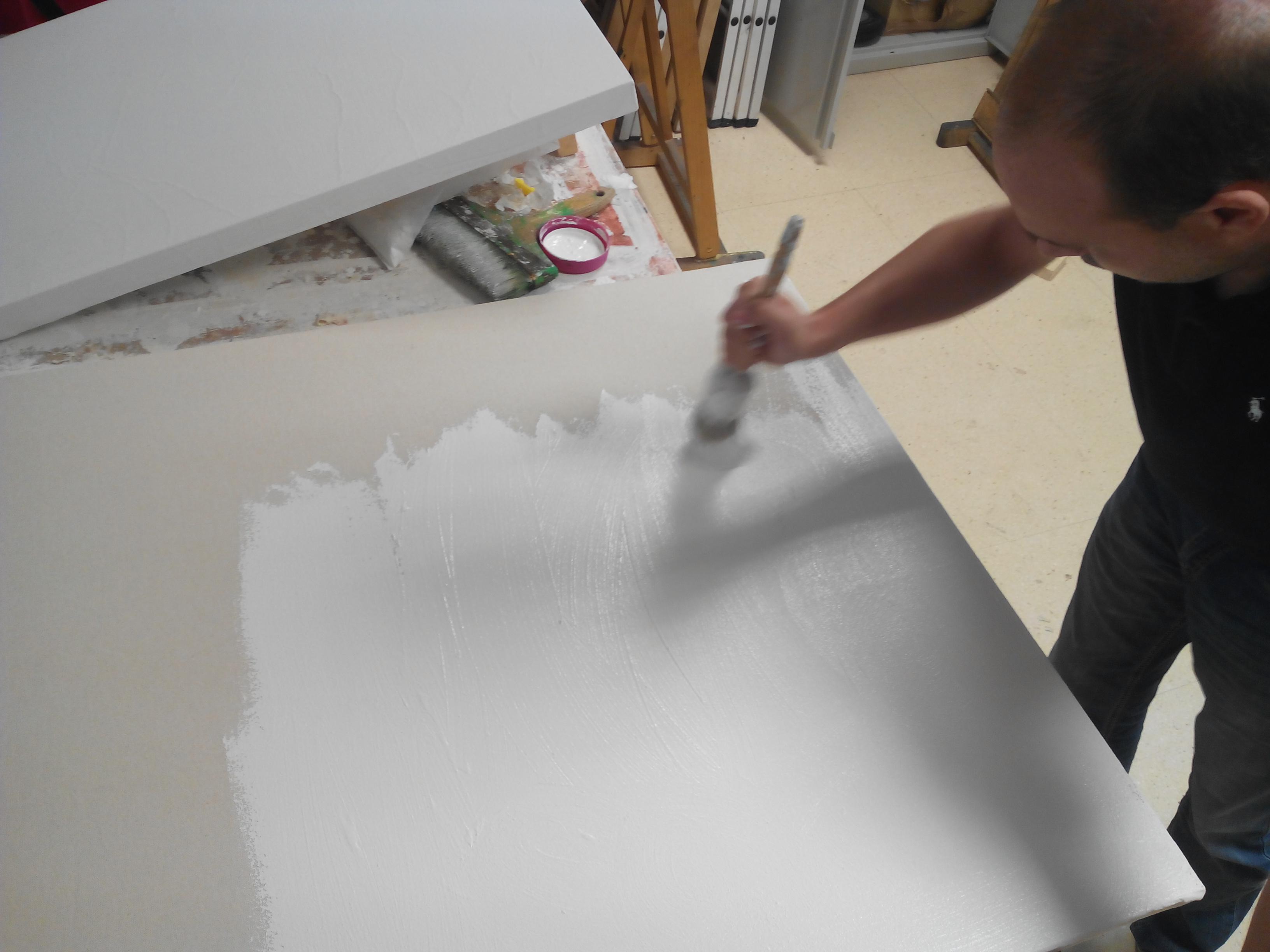 Montaje de una tela sobre un bastidor | viviendo el arte