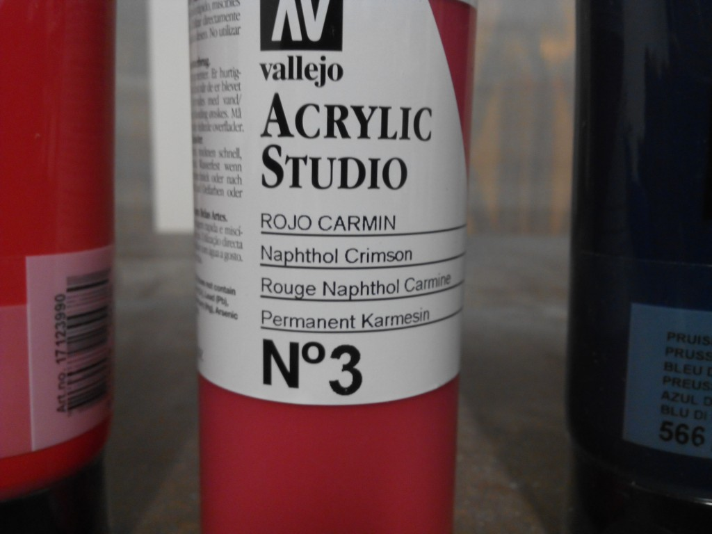 Rojo carmín, este proviene como el otro rojo del naftol, también me vale el carmín de granza, es fundamental para sacar los tonos de la piel.
