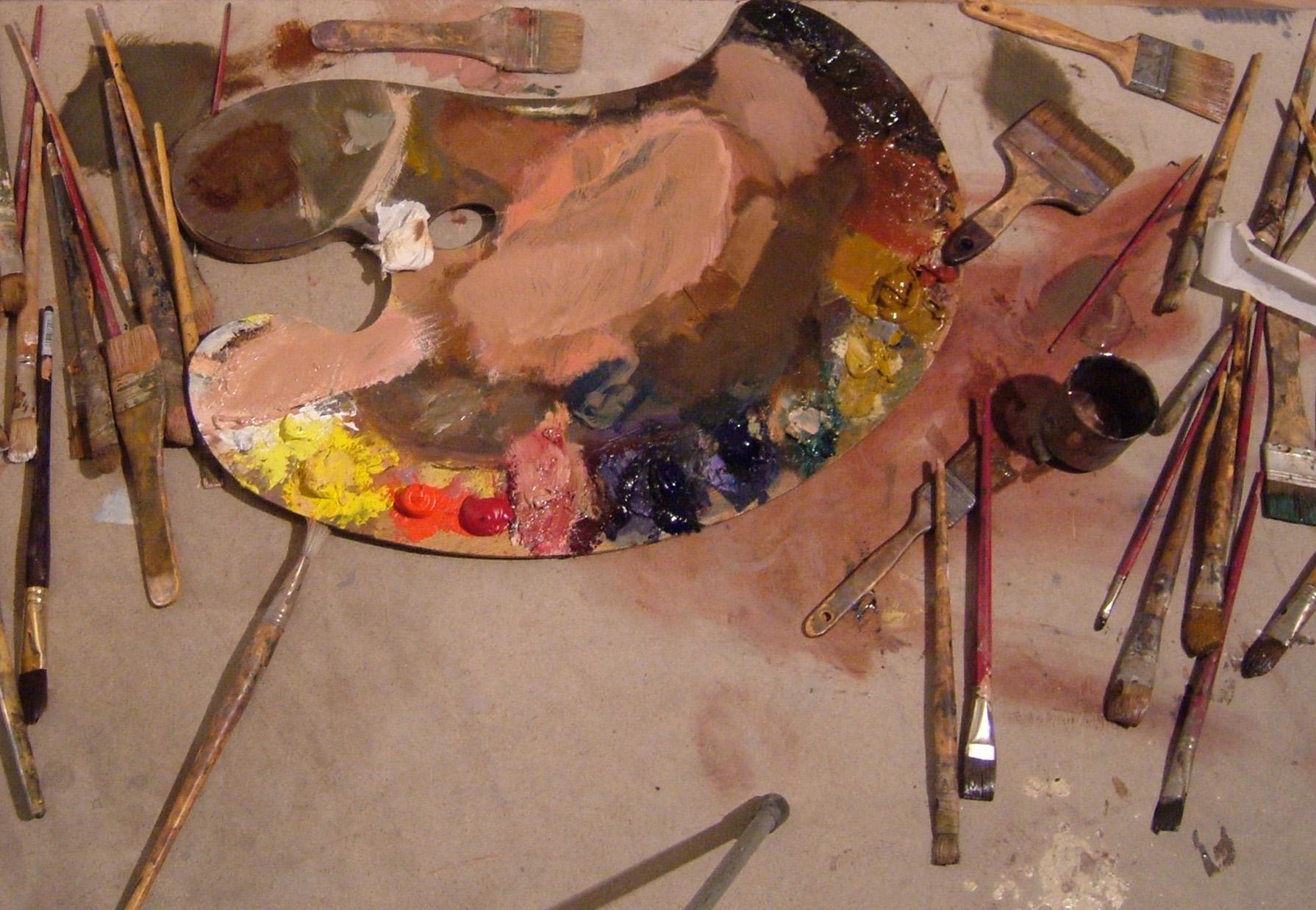 Colores para artistas viviendo el arte - Paleta de pinturas ...