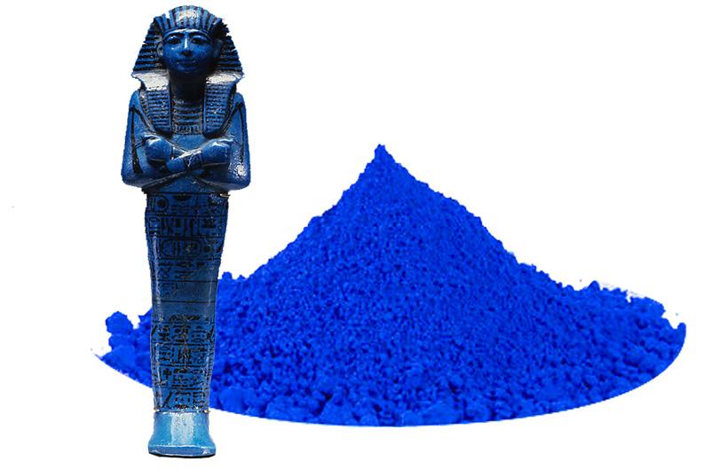 azul egipcio.