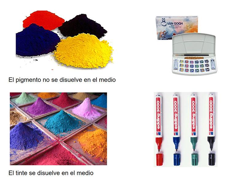 pigmento y tinte