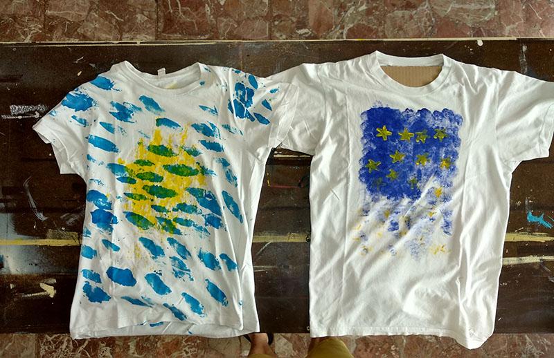 disfruta el precio de liquidación salida online zapatillas de skate Pintura para camisetas casera, médium casero para para ...